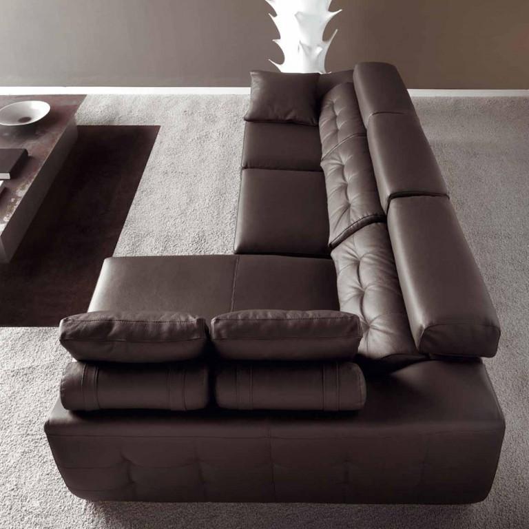 Sofa Estepona Luxe marrón cuero