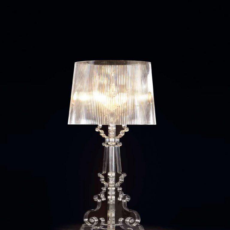 Lámpara sobremesa Pantalla metálica Base cerámica E27 1x40w