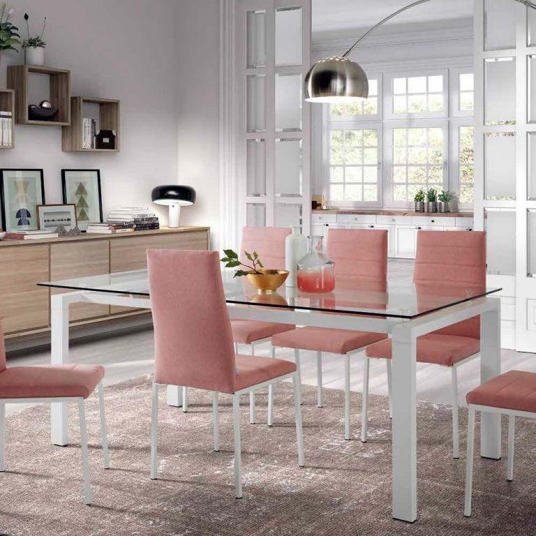 Mesa patas y estructura hierro pintadas blancas