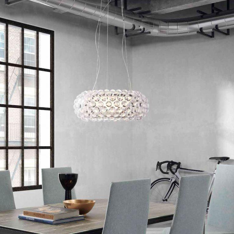 Lámpara de techo con bolas acrílicas