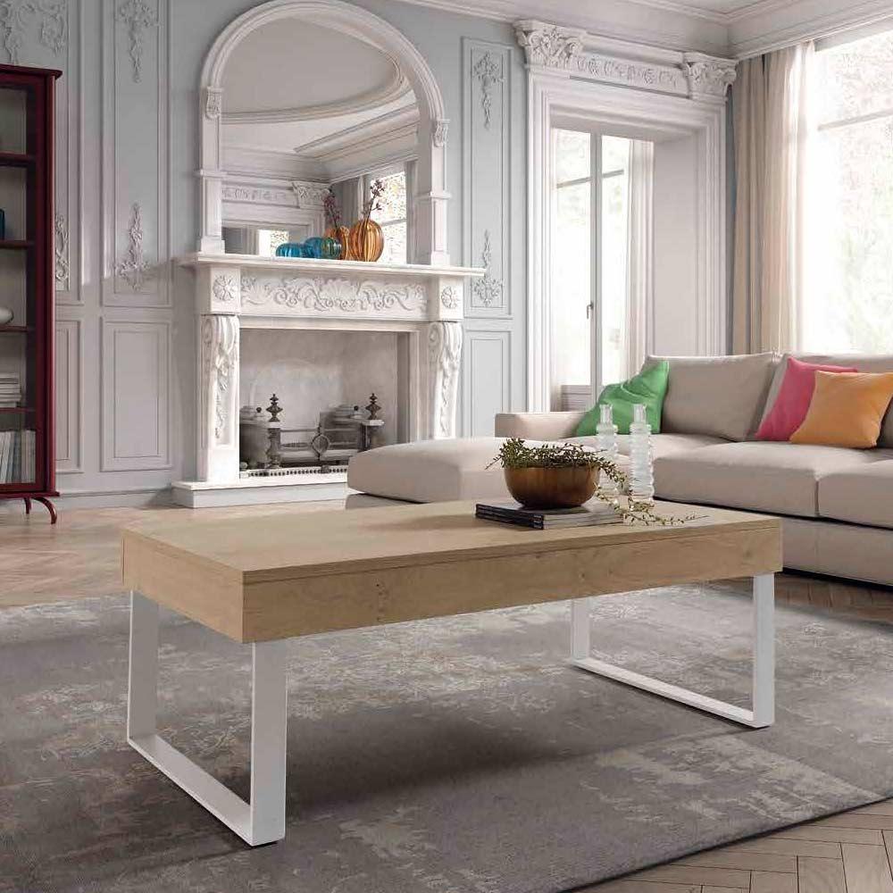 Mesa madera elevable patas pintadas o cromadas